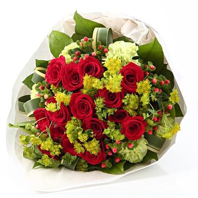 【ネット限定】赤いバラのブーケ L