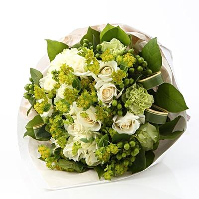 【ネット限定】白いバラのブーケ L
