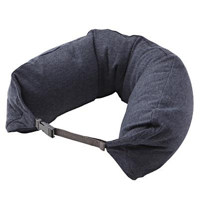フィットするネッククッション 杢ネイビー・約16.5×67cm