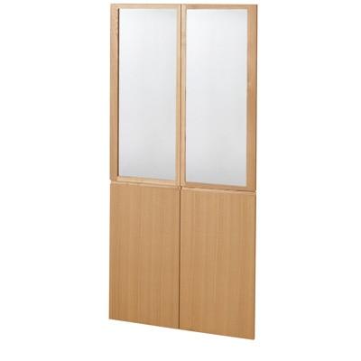 組み合わせて使える木製収納用扉(ガラス/木)・ミドルタイプ用 ミドルタイプ用・4枚組