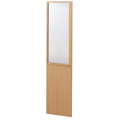 組み合わせて使える木製収納用扉スリム(ガラス/木)・ミドルタイプ用 ミドルタイプ・2枚組