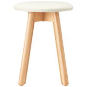 *beech Stool Round Type / Cloth Seat