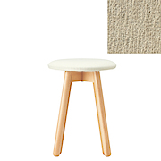 *beech Stool Round Cover Ct Chenille Lt Gry