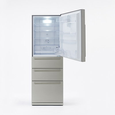 電気冷蔵庫・355L・ステンレス