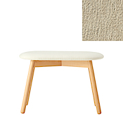 *beech Stool Oval Cover Ct Chenille Lt Gry