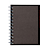 Planting Tree Paper Double Ring Notebook Gry A7 Ruled 48s