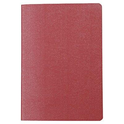 再生紙パスポートメモ 無地・125×88mm・24枚・エンジ