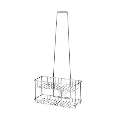 ステンレスシャワーラック・吊下げタイプ/約幅24×奥行11×高さ13(全長49)の写真