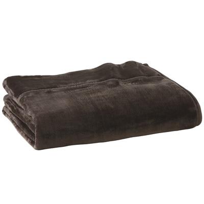 あたたかファイバー厚手毛布・S/ブラウン 140×200cm