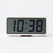 Digital Clock L White