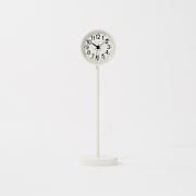 Park Clock Mini With Stand Wht