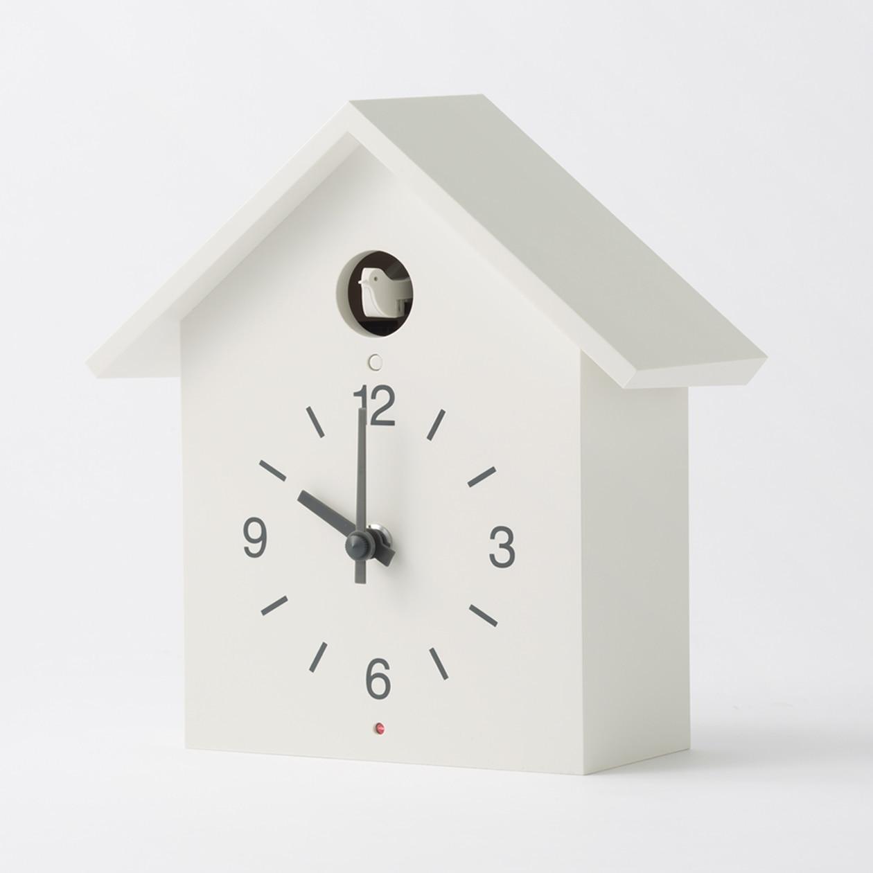 Muji Mechanism Of Cuckoo Clock Big White Wall Clock Table