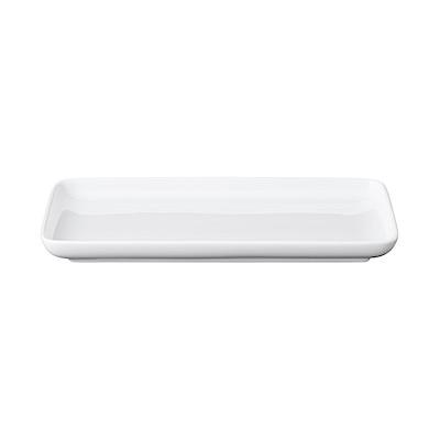 白磁角皿 約22.4×12.2×高さ2.5cm