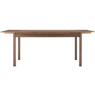 ウォールナット材エクステンションテーブル1/幅140/190×奥行80×高さ72cmの写真