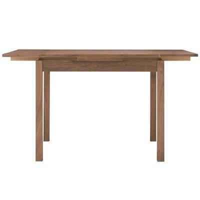 ウォールナット材エクステンションテーブル2/幅80/120×奥行80×高さ72cmの写真