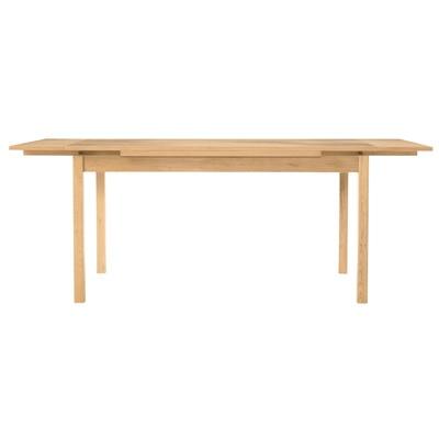 オーク材エクステンションテーブル1/幅140/190×奥行80×高さ72cmの写真