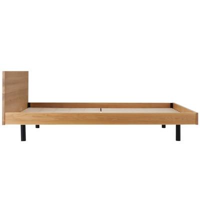 無垢材ベッド・オーク材・セミダブル 幅128×奥行202×高さ75cm