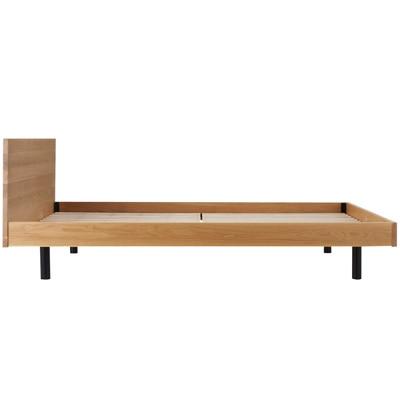 無垢材ベッド・オーク材・ダブル 幅148×奥行202×高さ75cm