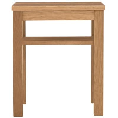 無垢材サイドテーブルベンチ・板座・オーク材/幅37×奥行37×高さ44cmの写真