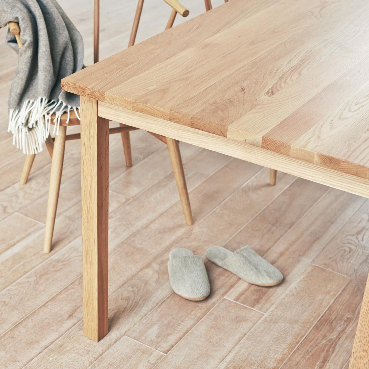 【無印良品】のダイニングテーブルは多彩。お部屋に合わせて選ぼう!