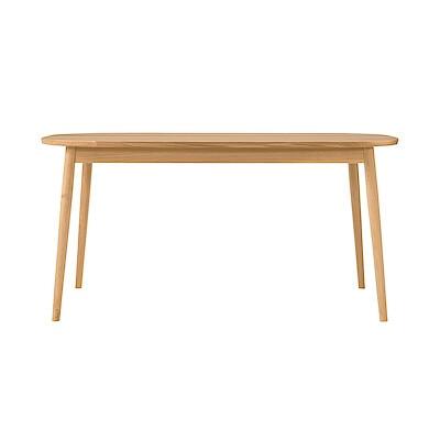 オーク材テーブル・丸脚・幅150cm 幅150×奥行80×高さ72cm