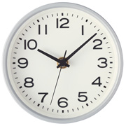 Analog Clock S Silver
