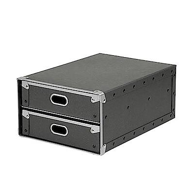 硬質パルプボックス・引出式・2段/約幅25.5×奥行36×高さ16cmの写真
