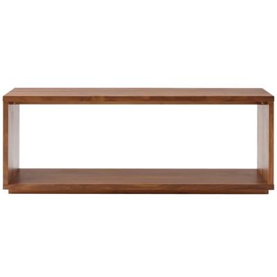 無垢材テーブルベンチ・ウォールナット材/幅120×奥行37.5×高さ44cmの写真