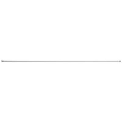 スチールアジャスターポール・細・L/オフ白/120~200cm■外径:1.3cmの写真
