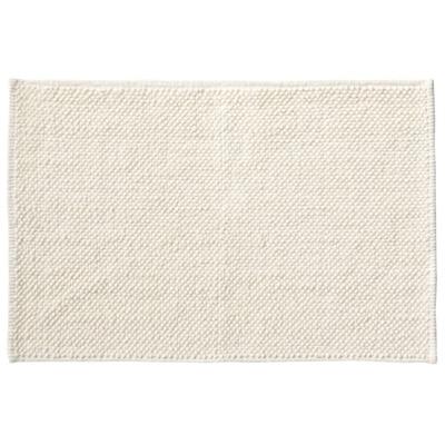 インド綿シェニールバスマット・M/オフ白/45×70cmの写真