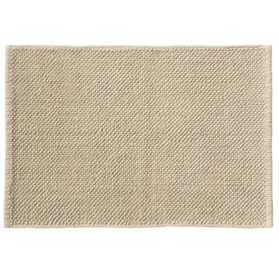 インド綿シェニールバスマット・M/ライトブラウン/45×70cmの写真