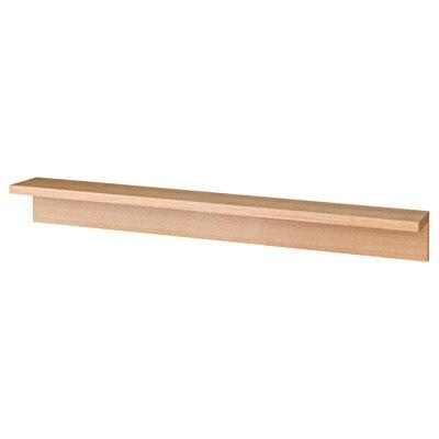 壁に付けられる家具・棚・幅88cm・タモ材/ナチュラル 幅88×奥行12×高さ10cm