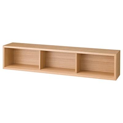壁に付けられる家具・箱・幅88cm・タモ材/ナチュラル/幅88×奥行15.5×高さ19cmの写真