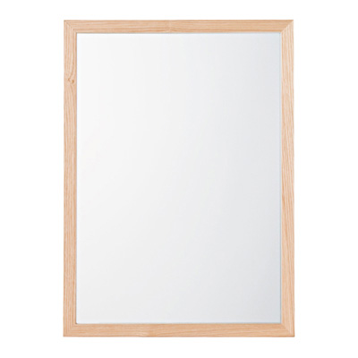 壁に付けられる家具・ミラー・小・タモ材/ナチュラル/幅44×奥行2×高さ32.5cmの写真
