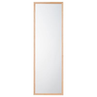 壁に付けられる家具・ミラー・中・タモ材/ナチュラル 幅32.5×奥行2×高さ100cm