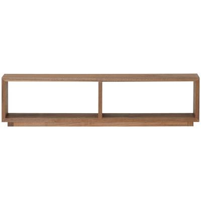 収納ベッド・追加台・シングル・ウォールナット材 幅105.5x奥行15×高さ27cm