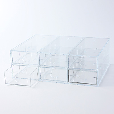 *ACRYLIC BOX 6 DRAWERS A4