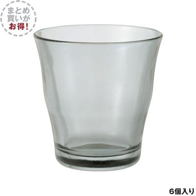【まとめ買い】グラス 約200ml グレー 6個セット