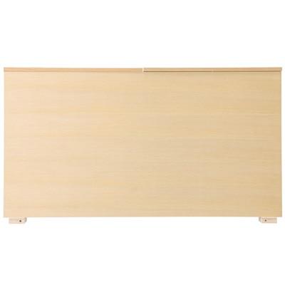 収納ベッド用ヘッドボード・ボックス型・シングル・オーク材 幅105.5×奥行14×高さ83cm