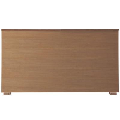 収納ベッド用ヘッドボード・ボックス型・シングル・ウォールナット材 幅105.5×奥行14×高さ83cm