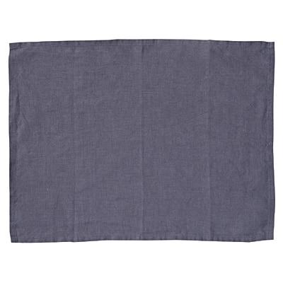 洗いざらしの麻 ランチョンマット ネイビー 約幅45×奥行35cm