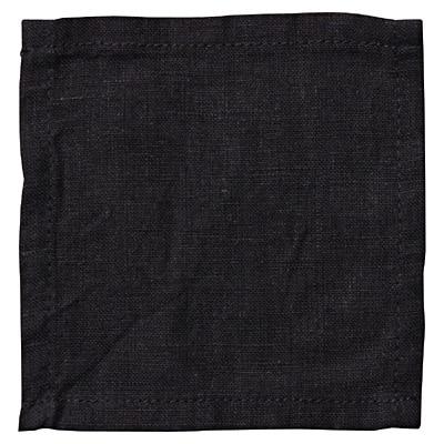 洗いざらしの麻 コースター 墨黒 約幅10×奥行10cm