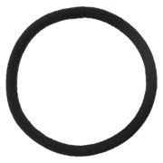 Hair Rubber Ring Black Thick 1pc