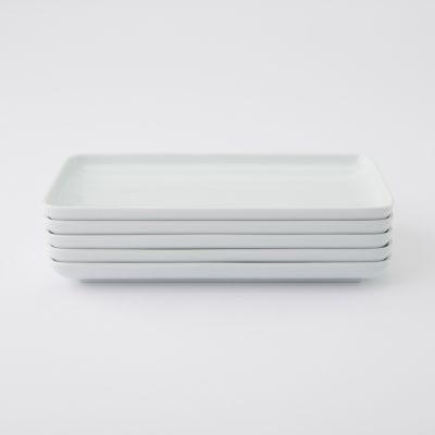 【まとめ買い】白磁角皿 5枚セット