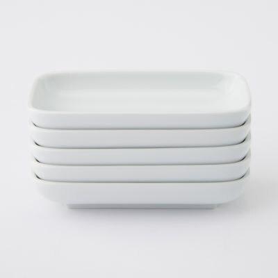 【まとめ買い】白磁長角皿・小 5枚セット