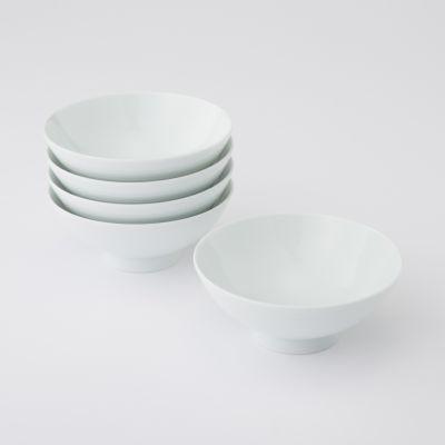 【まとめ買い】白磁めし茶碗・中 5個セット