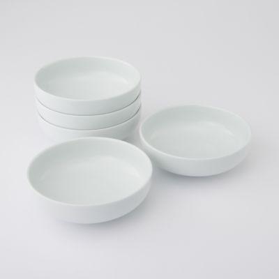 【まとめ買い】白磁浅鉢・大 5個セット