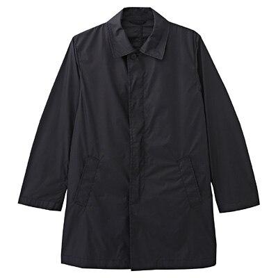 ポケッタブルステンカラーコート 紳士M・黒