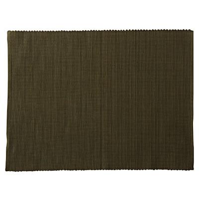 インド綿手織ランチョンマット/カーキ 約35×45cm