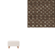 Cotton Polyester Cover For Sofa Ottoman/brown